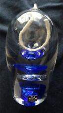 Vas Vitreum Swedish Crystal Art Glass Oil Lamp Signed Titled Gloria 796 NIB