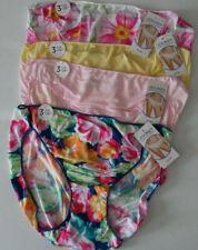 4 Jockey Womens Nylon Bikini Set 1370 No Panty Line Yellow Pink White Blue 8 XL