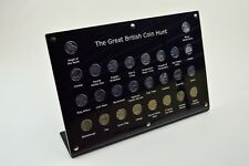 The Great British Coin Hunt A - Z 10p / Ten Pence Coin Holder 26 holes Standing