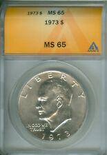 1973 Eisenhower IKE Dollar  ANACS MS 65 (1925115)