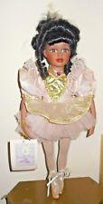 Vintage Collectible Bisque Porcelain African American Black Ballerina Doll