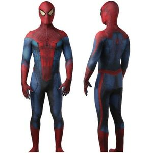 Avengers The Amazing Spider-Man Peter Parker Jumpsuit Cosplay Costume Kids Adult