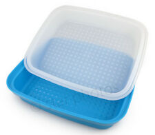 Tupperware Season Serve Marinating Marinade Container in Blue & White - NEW!
