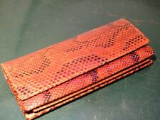 Vintage/Retro Genuine Leather (snake?) Clutch. With detachable shoulder strap