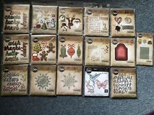 TIM HOLTZ THINLITS SIZZIX DIES CHRISTMAS WORDS MIXED MEDIA SHADOW SCRIPT SPRING
