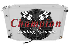 "4 Row Champion Radiator For 1981-1882 Ford Grandada With Shroud & 16"" Fan"