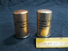 Vintage Copper Column Newton Mfg Co IA Salt and Pepper Shakers        31