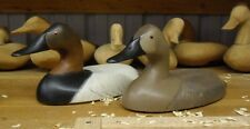 1987 Canvasback Wing Duck Decoys by Robert Litzenberg