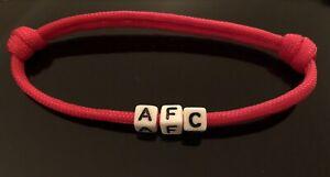 Arsenal AFC Wristband Stocking Filler Red Bracelet Gift Secret Santa