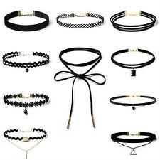 10 Pcs Hot Leather lace Choker Charm Necklace Vintage Hippy Punk Retro Collar