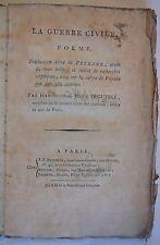 LA GUERRE CIVILE. P O Ë M E. Deguerle. 1799.