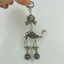 Vintage Animal Desert Camel Turkish Macrame Evil Eye Dangle Pendant Jewelry