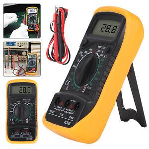 Digital Multimeter Voltmeter Ammeter LCD AC DC Current Circuit Buzzer Tester UK