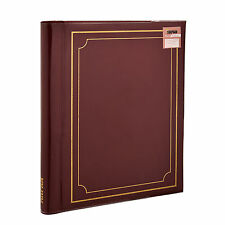 Red Large Self Adhesive Photo Albums Spiral Bound 20 Sheets 40 Sides - SM40RD