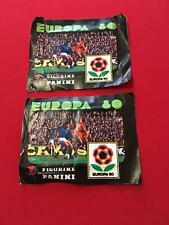 Two Empty used Packets of Panini Europa 80 (1980)