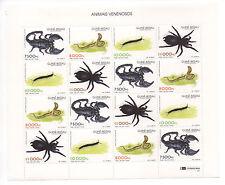 Guinea-Bissau 1997 poisonous animals 16 stamps Mi. 1252 - 1255 MNH ** Scarce !