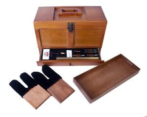 GunMaster Wooden Toolbox with 17 Piece Universal Gun Cleaning Kit, FREE SHIPPING