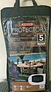 BRAND NEW Protector 5000 Premium Circular Patio Set Cover - 4/6 Seat, StormBlack