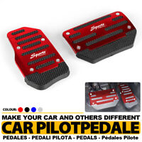 Automatic Universal 2Pcs Red Car Auto Racing Pedal Brake Gas Pad Aluminum Cover