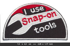SNAP ON TOOLS Patch Embroidered Sew Iron Cars Automotive Equipments
