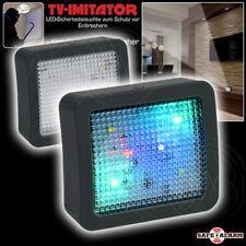 2er Set TV Simulator LED Anwesenheits Imitator SAFE ALARM Batterie Betrieb Dummy