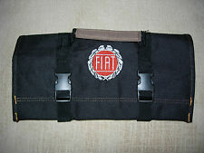 "FIAT LOGO/ Spider/X-19/124 Heavy Canvas ""NEW ALL BLACK"" !!!! Tool Roll"