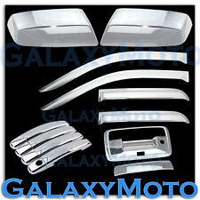 14-15 GMC Sierra 1500 Chrome Mirror+4 Door Handle+Tailgate Camera+Window Visor