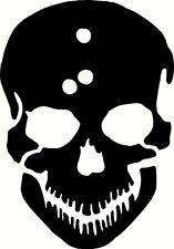 Skull Bullet Holes Vinyl Sticker Decal - Choose Size & Color