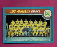 1979-80 TOPPS # 250 KINGS  UNMARKED TEAM CHECKLIST NRMT-MT CARD (INV#4164)