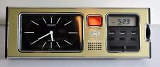 RARE Vintage SEIKO Mid Century  DESK Table CLOCK QUARTZ JAPAN. Phillip Morris!!!