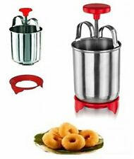 Actionware Stainless Steel Medu Wada Maker, Cake Mix Batter Dispenser, cupcake