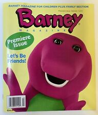Vintage BARNEY: 1994 - Premiere Issue - Barney Magazine - Section 1 of 2