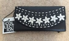 Debenhams Genuine Leather Ladies Floral Purse Black New With Tags RRP £29