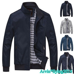 New Mens Bomber Jacket Classic Coat Outerwear Top UK SIZES S M L XL XXL