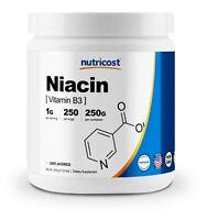 Nutricost Niacin Vitamin B3 Powder 250 Grams - 1G Per Serving