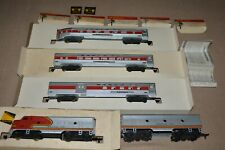 HO Gauge TYCO Mantua Santa Fe 1964 Diesel Passenger Train Set T6423 Vintage Orig