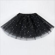 US Women Girl Princess Tulle Tutu Skirt Adult Kids Ballet Dance Party Mini Dress