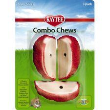 Kaytee Combo Chews Apple Slice Wood Clean Teeth 3 Pack for Hamsters
