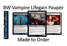 MTG Black White Vampire Lifegain - Made to Order - Pauper Deck