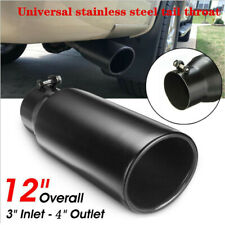 76.2-102mm Car Black Stainless Steel Exhaust Pipe Muffler Tip Tail Throat System