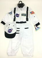 Aeromax Jr. Astronaut Suit with Cap and NASA Patches White Size 2/3 - New