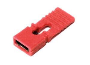 5x PCB Jumper Handle Pull Tabs PC MB HD CD ROM Red / Plug Bridge Strap Red