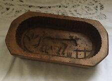 Ancien moule A beurre en bois art populaire