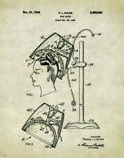Hair Salon Stylist Patent Poster Art Print Hairdresser Cape Dryer Gift PAT381