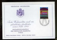 Liechtenstein 1980 Christmas Philatelic Card #289