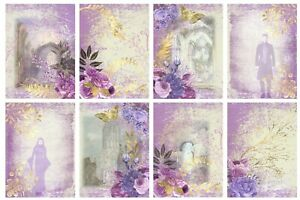 GOTHIC GARDEN - 2 x A4 SHEETS OF CARD TOPPERS -  SCRAPBOOKING - 250GSM