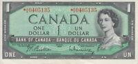 1954 BANK OF CANADA $1 DOLLAR REPLACEMENT *A/A 0405135 RASMINSKY/BEATTIE NOTE