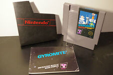 Gyromite (NES, 1985) *Tested / With Sleeve and Manual / 5 Screw