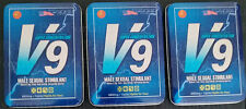 V9 Pills | 3 Tins - 30 doses Male Sexual Stimulant For Enhancement - Ships Fast