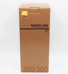 NIKON AF-S NIKKOR 200-500 mm f/5.6E ED VR. 2 Years Warranty-Next Day UK Delivery